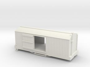 S USMRR BOXCAR in White Natural Versatile Plastic