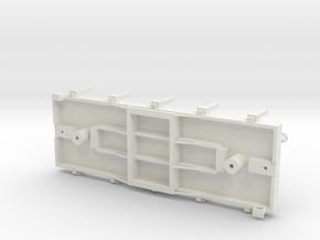 S USMRR FLATCAR 5 STAKE in White Natural Versatile Plastic