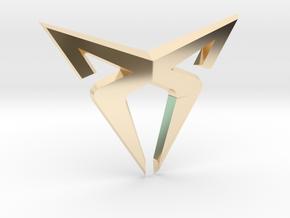 Cupra Logo (Small) in 14K Yellow Gold