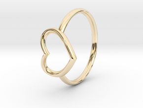 Small Open Heart Ring in 14K Yellow Gold