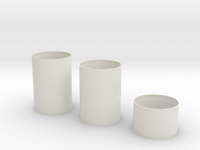 1:72 S-1C S-II Smooth Sections for Dragon Thicker in White Natural Versatile Plastic