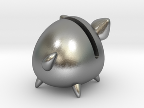 Micro Piggy Bank (Small) in Natural Silver