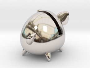 Micro Piggy Bank (Small) in Platinum