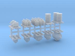 Ladegüter V1 auf Europaletten 10er Set - 1:120 TT in Smooth Fine Detail Plastic