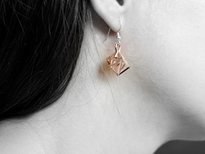 RAY cube in 14k Rose Gold Plated Brass