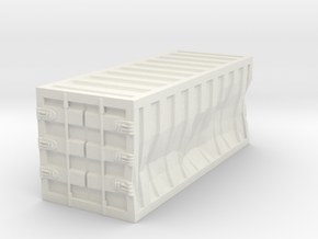 Damaged 20ft Container 1/87 in White Natural Versatile Plastic