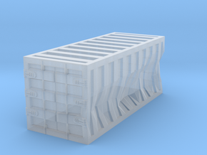 Damaged 20ft Container 1/220 in Smooth Fine Detail Plastic