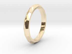 48 Facet Stacker Ring in 14k Gold Plated Brass