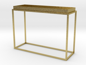 Miniature Tray Top Console Table in Natural Brass
