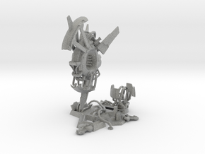 Sci-fi space ship miniature  in Metallic Plastic