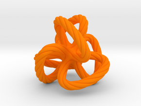 Dodecahedron quadroloop in Orange Processed Versatile Plastic