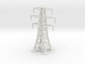 Transmission Tower 1/87 in White Natural Versatile Plastic
