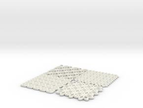 Torus Patterns in White Natural Versatile Plastic: Medium