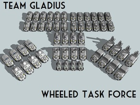 """""""Team Gladius"""" 3mm Wheeled Task Force(52pcs) in Smooth Fine Detail Plastic"""