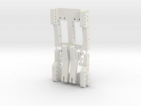 Brazin Scale RC C1 Spec Leaf Spring Kit in White Natural Versatile Plastic