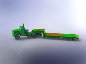 M920 MET w. M870 Lowbed Trailer 1/220 in Smooth Fine Detail Plastic