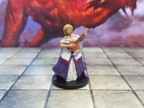 Elven Female Bard 2 in Smooth Fine Detail Plastic