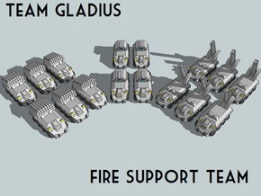 """""""Team Gladius"""" 3mm Fire Support Team (16pcs) in Smooth Fine Detail Plastic"""
