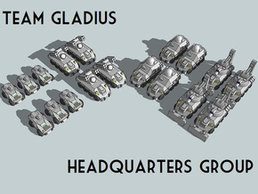 """""""Team Gladius"""" 3mm Wheeled HQ Group (18pcs) in Smooth Fine Detail Plastic"""