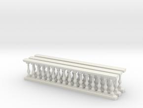 Baluster Ver 01 .1:24 Scale in White Natural Versatile Plastic
