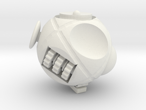 Fidget Sphere 3D Printed ,Customized with any Name in White Natural Versatile Plastic