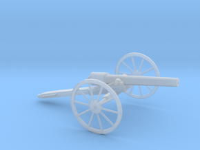 1/87 Scale American Civil War Cannon 10-Pounder in Smooth Fine Detail Plastic