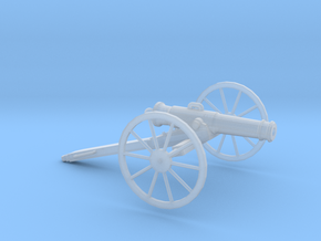 1/72 Scale American Civil War Cannon 24-pounder in Smooth Fine Detail Plastic