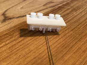 Tow Pin, working (1:200 scale) in White Processed Versatile Plastic