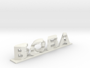 Boba Fett 3D Dual Word Illusion in White Natural Versatile Plastic