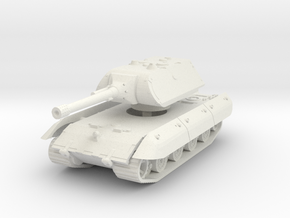 E-100 Maus 150mm (side skirts) 1/43 in White Natural Versatile Plastic