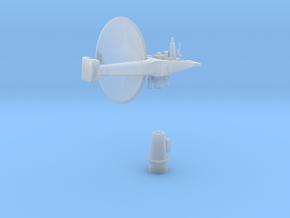 1:192 Scale AN/SPS-30 RADAR in Smooth Fine Detail Plastic
