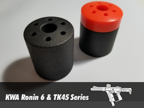 Suppressor End Cap - KWA Ronin 6 & TK45 in Black Natural Versatile Plastic