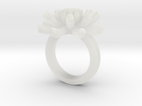 Sea Anemone Ring 18.5mm in Smooth Fine Detail Plastic