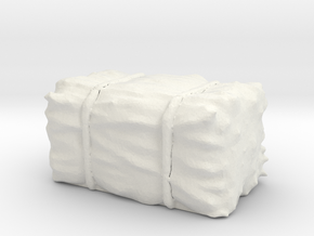 Hay Bale 1/35 in White Natural Versatile Plastic