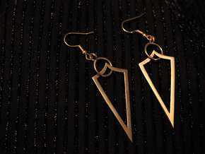 Valiria Earrings in Polished Bronze (Interlocking Parts)