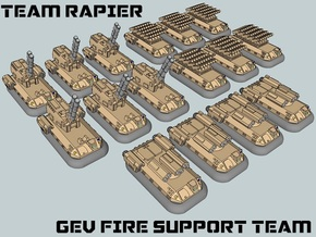 """Team Rapier"" 3mm GEV Fire Support Team (16pcs) in Smooth Fine Detail Plastic"