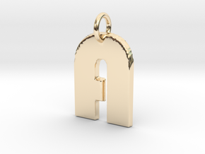 Small Gold Letter A Disco  in 14K Yellow Gold