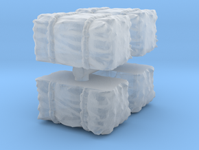 Hay Bale (x4) 1/144 in Smooth Fine Detail Plastic