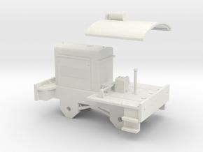 O Gauge Hunslet Diesel 'Sweet Pea' Scratch Aid in White Natural Versatile Plastic