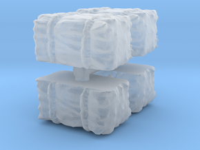 Hay Bale (x4) 1/160 in Smooth Fine Detail Plastic
