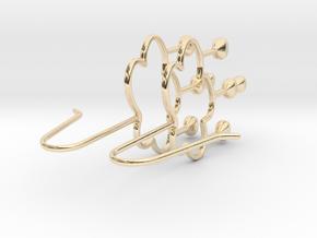 Rain Earrings in 14k Gold Plated Brass