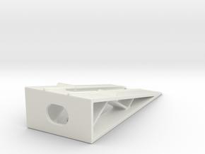 Car Display Ramp 1/120 in White Natural Versatile Plastic