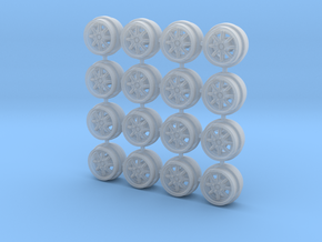 8 spoke racing (Minilites/Watanabes) 8mm Dia - 4 s in Smoothest Fine Detail Plastic