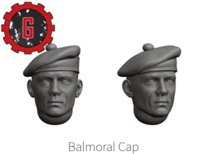 28mm Heroic Scale Balmoral cap in Smooth Fine Detail Plastic: Small