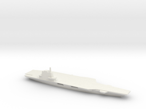 1/1250 Scale Chinese Aircraft Carrier Shandong in White Natural Versatile Plastic
