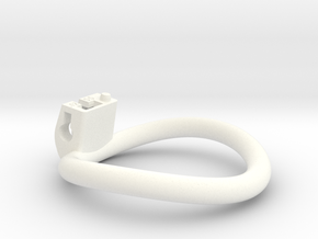 Cherry Keeper Ring - 55mm -12° in White Processed Versatile Plastic