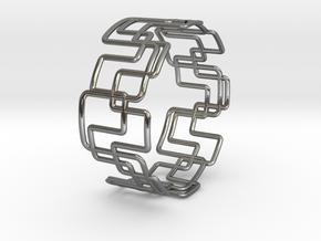 Modern Graphics Bracelet  in Polished Silver