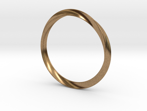 Delicate Bangle in Natural Brass