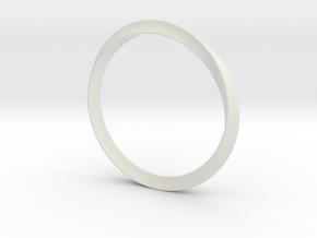 Delicate Bangle in White Natural Versatile Plastic