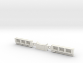 TailLightBar-6inch in White Natural Versatile Plastic